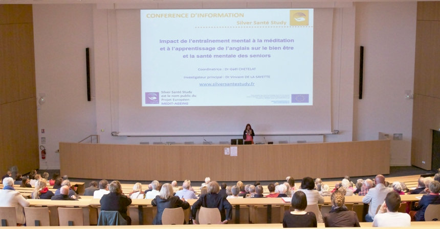 Close to 100 older people from in and around Caen (Normandy), attended our project's first public conference at the Marie Curie Amphitheatre on June 15 2016.