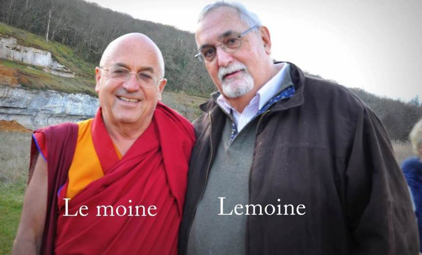 Our project is very fortunate to have the support and advocacy of two highly respected experts from the fields of health & wellbeing practices and journalism: Matthieu Ricard (left) and Jean-Francois Lemoine (literal translation 'the monk' – right).